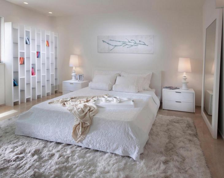 Whitish Monochromatic Bedroom Furnishing