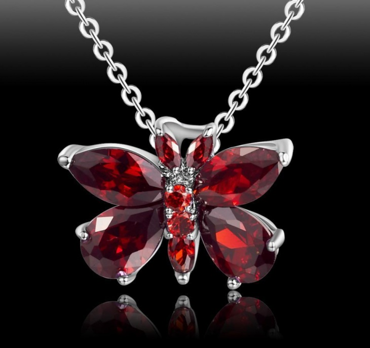 gemstone butterfly jewelry