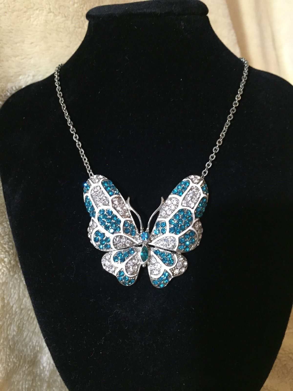 Teal Butterfly Jewelry Design