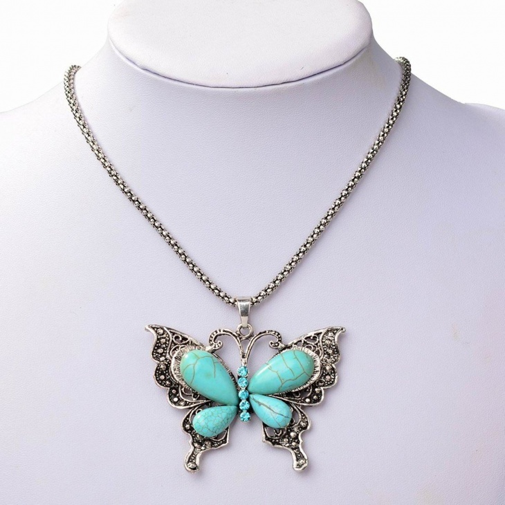 Butterfly Charm Statement Necklace