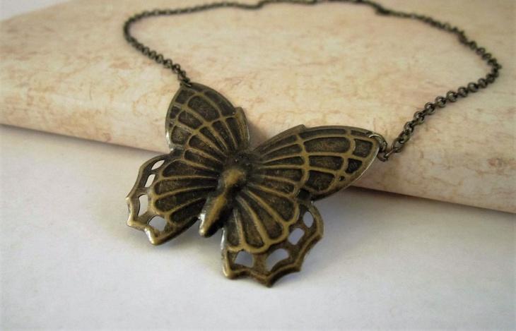 Brass Butterfly Boot Chain
