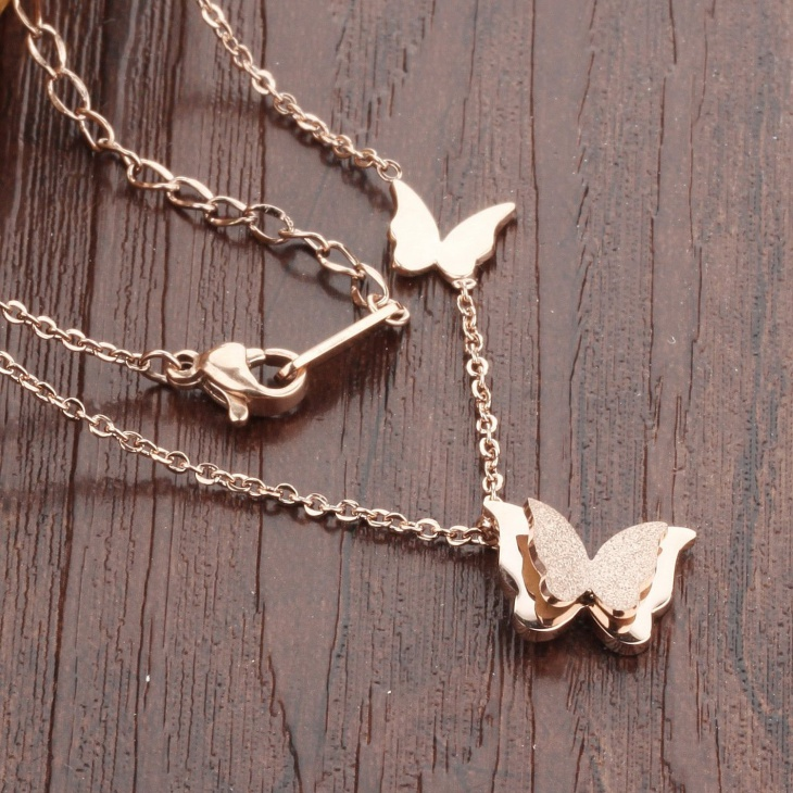 Stainless Steel Butterfly Pendant