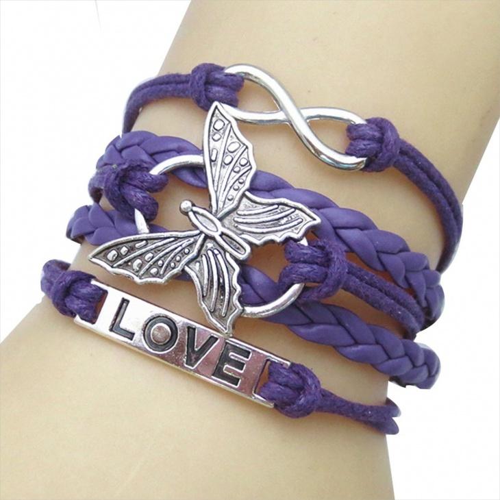 butterfly love infinity bracelet