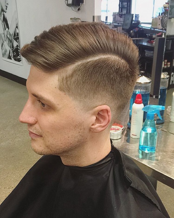 low fade side comb over