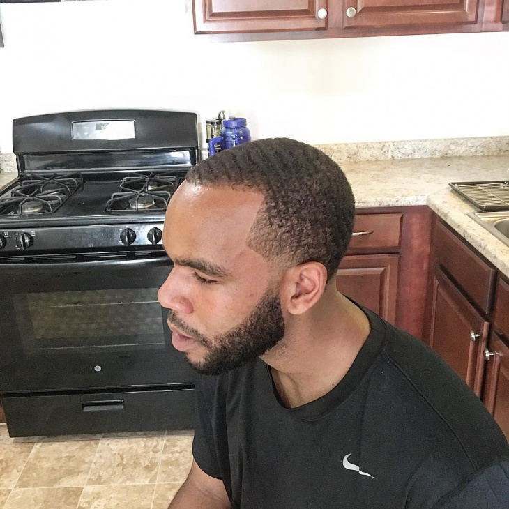 curly low fade comb over hair