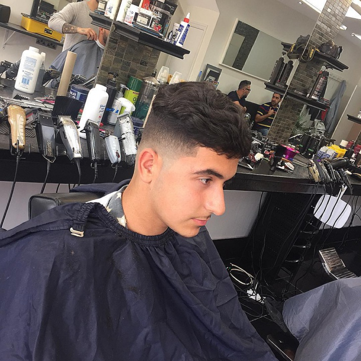 Low Fade Comb Over Thick Hair