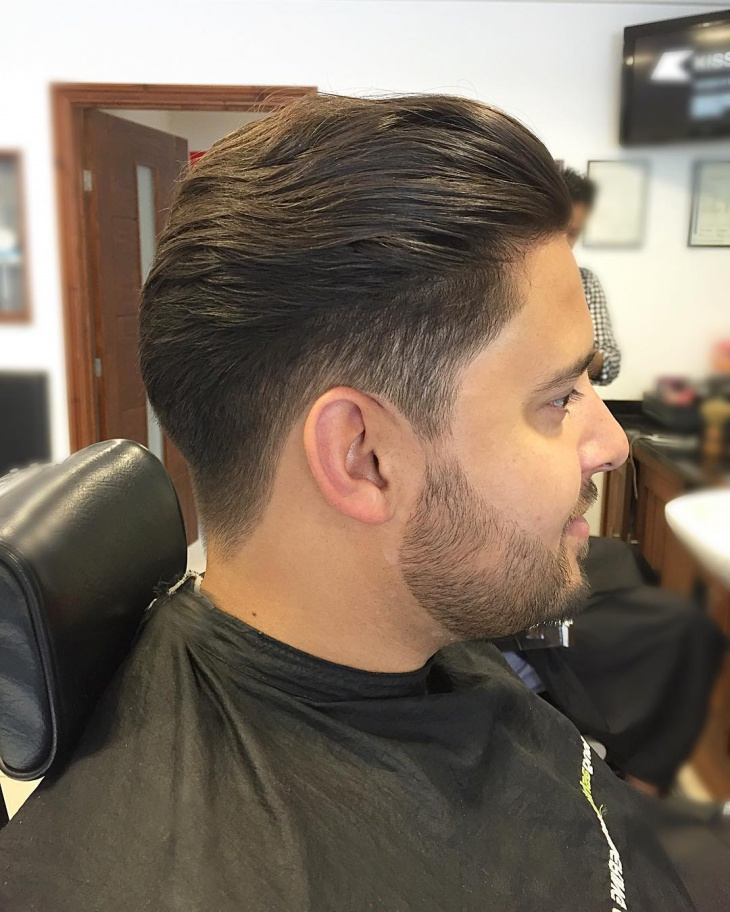 Low Fade Comb Over Soft Hair