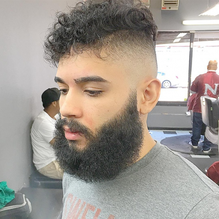 Beard Low Fade Comb Over Hair