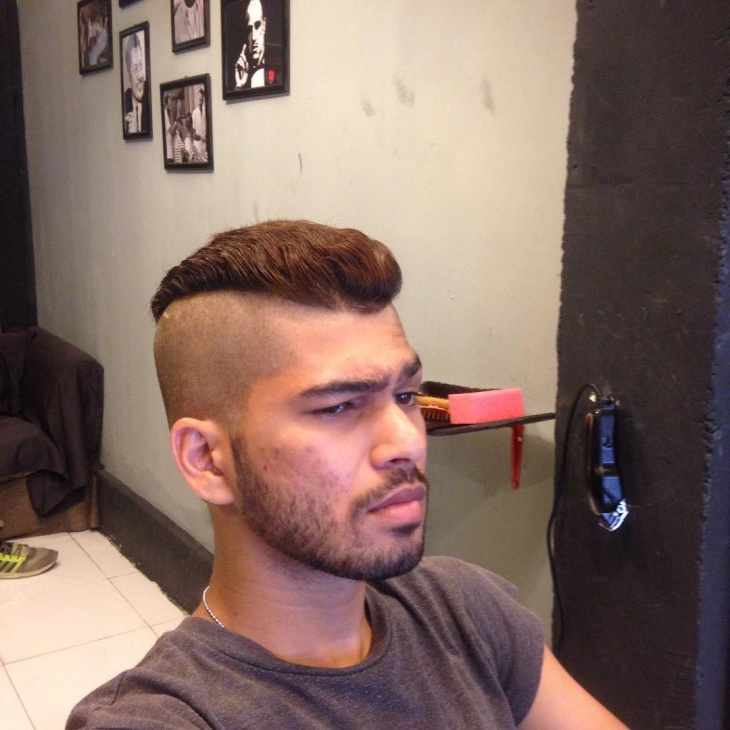 shaved sides low fade haircut