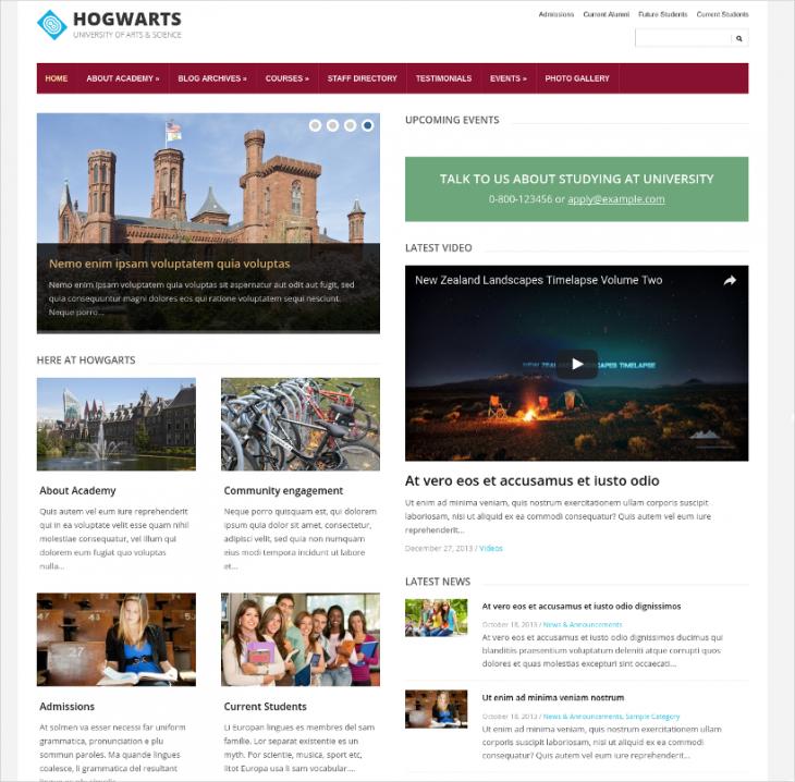 Modern Responsive Education WordPress Theme