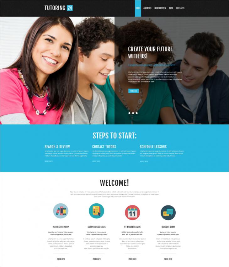 Premium Online Education WordPress Template