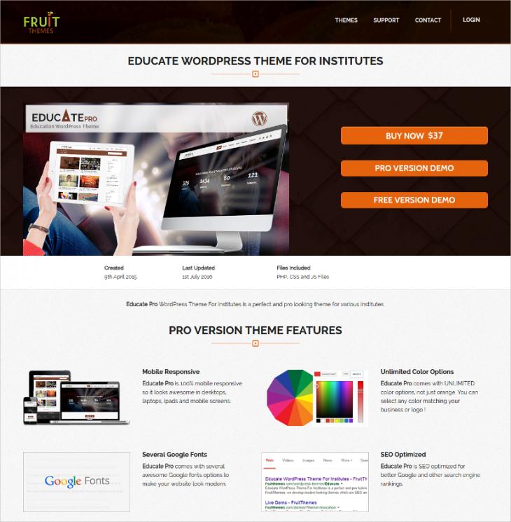 Mobile Responsive Education WordPress Theme
