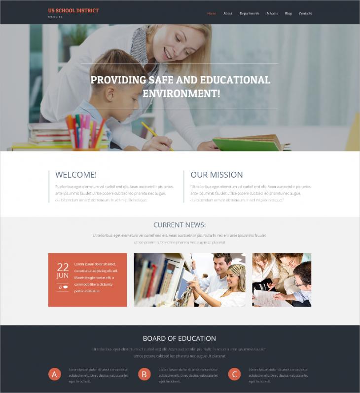 Primary School Education WordPress Theme
