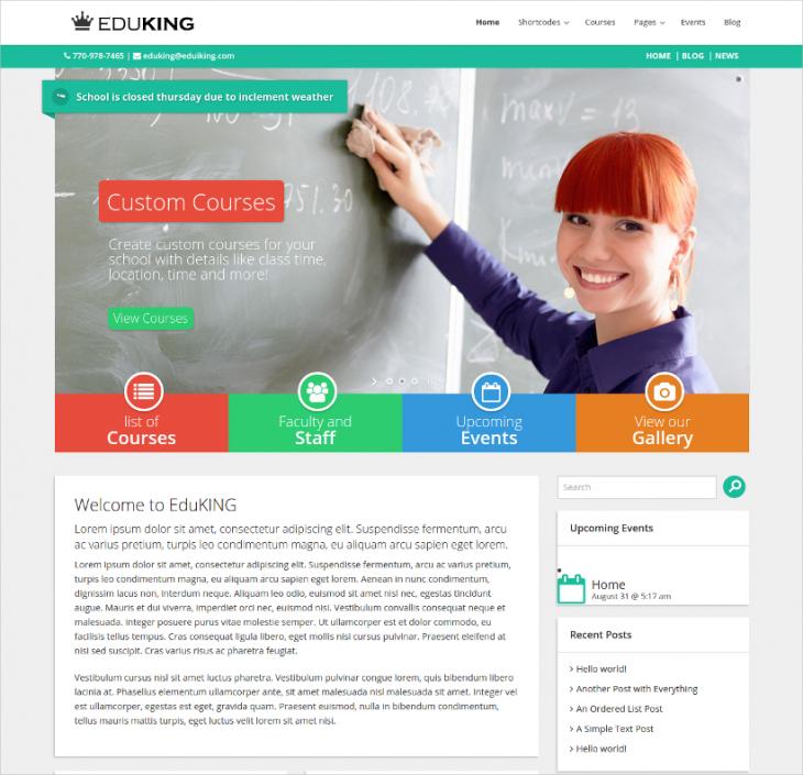 University Responsive Education WordPress Theme
