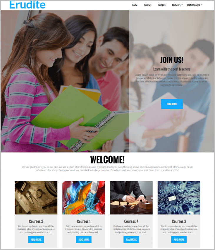 Professional Education WordPress Theme