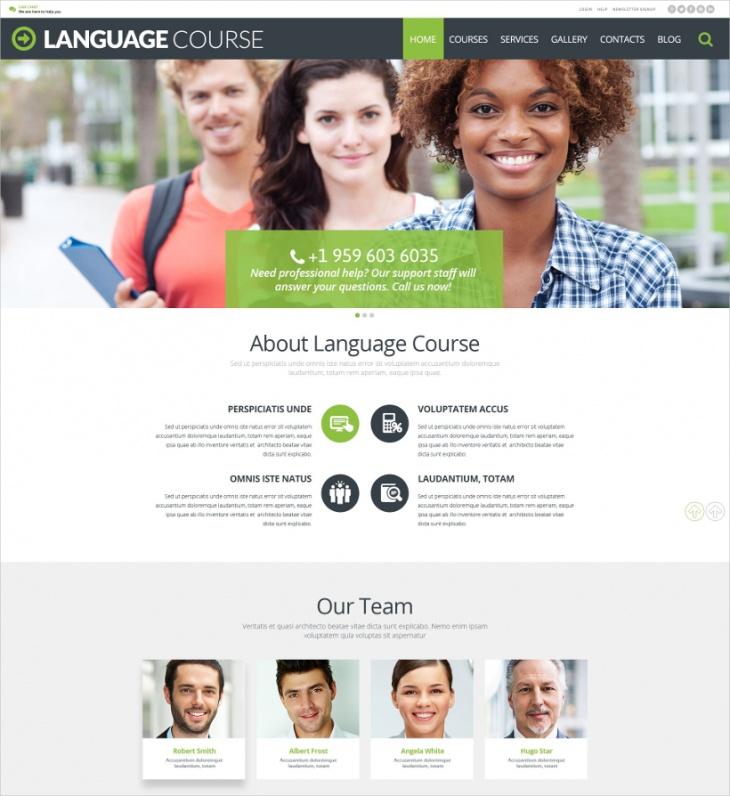 Education Courses WordPress Theme