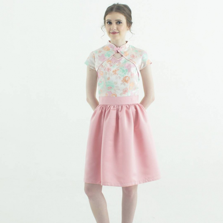 jacquard collared dress