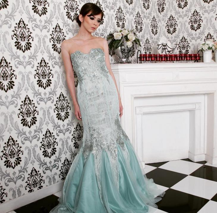 jacquard prom dress