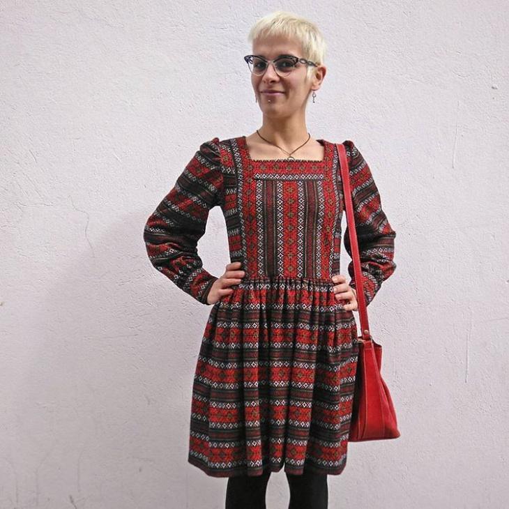 vintage jacquard dress