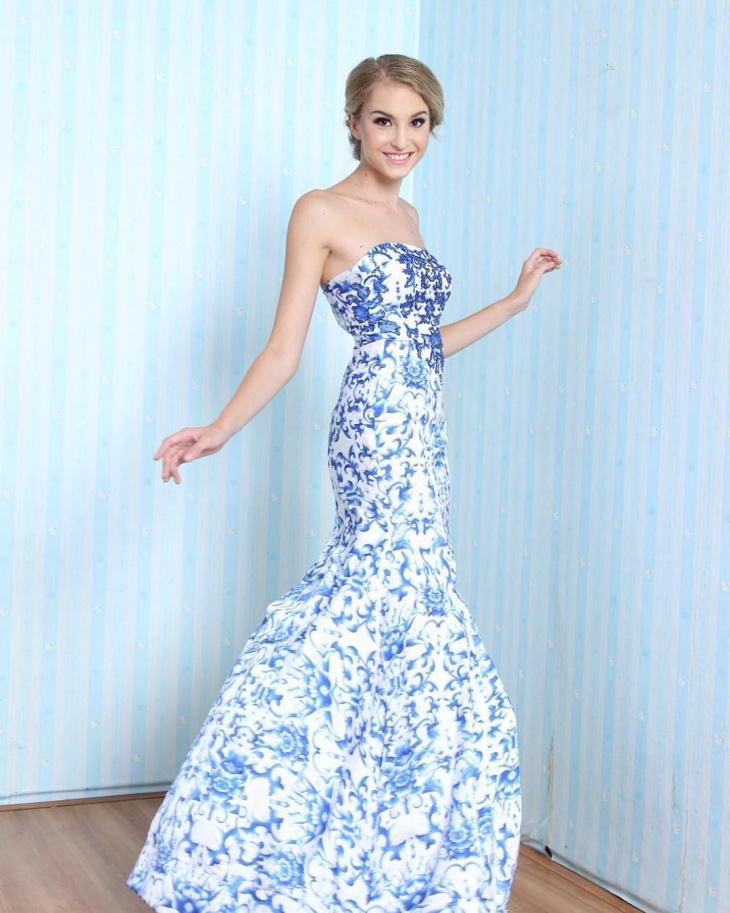 jacquard wedding dress