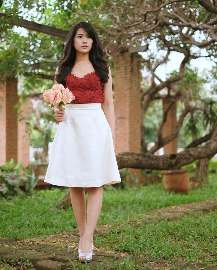 jacquard skirt dress idea