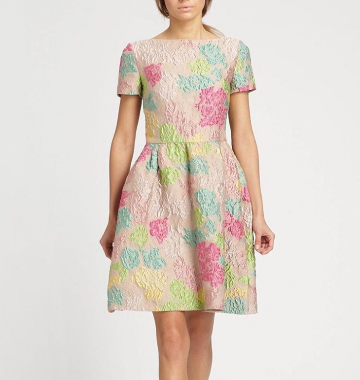 classic jacquard dress design