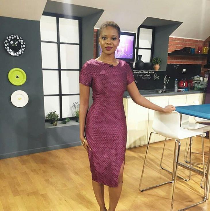 purple jacquard dress idea