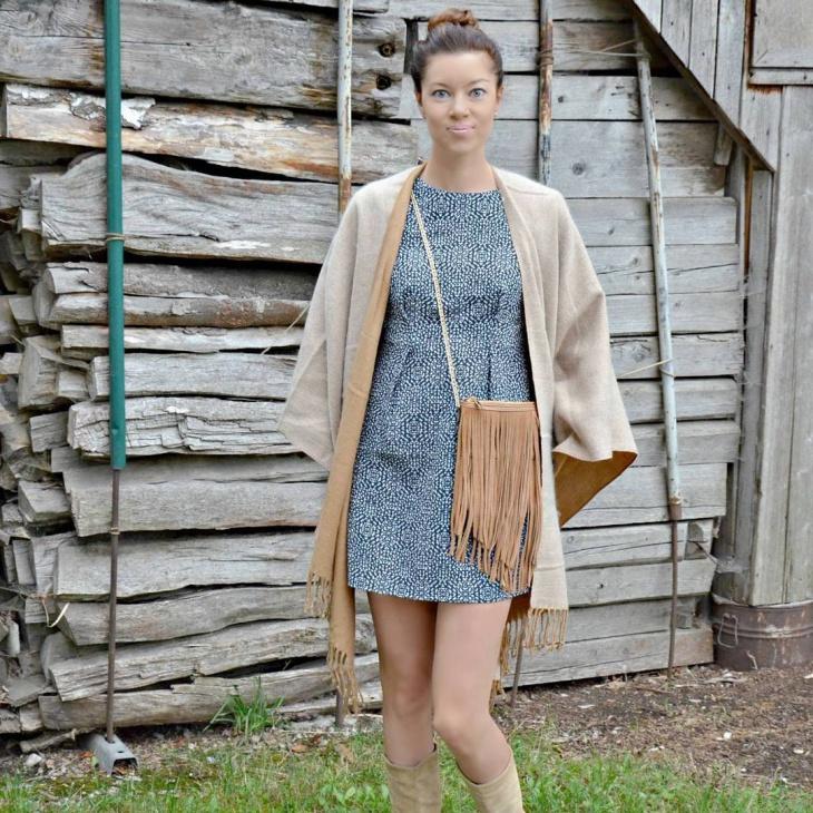 trendy jacquard dress