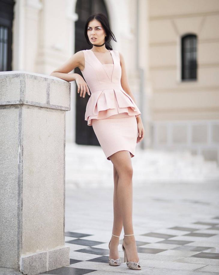 jacquard mini dress design