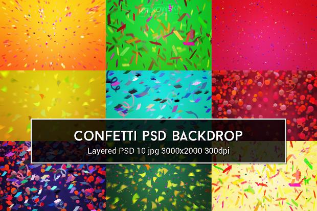 photoshop confetti texture