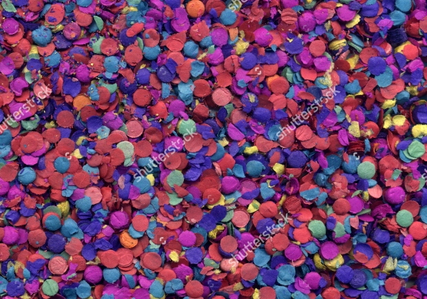 Colorful Confetti Texture Design