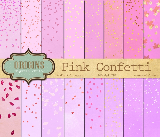 Pink and Gold Confetti Texture