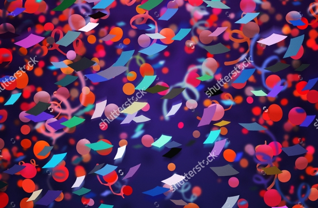 Realistic Confetti Background Textures