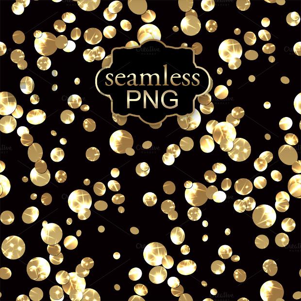 gold confetti texture design