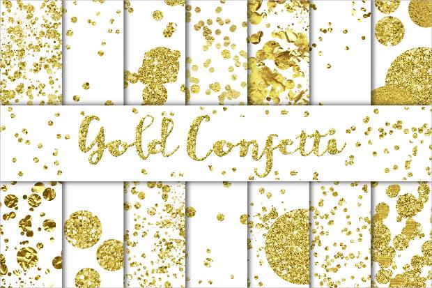 gold confetti texture