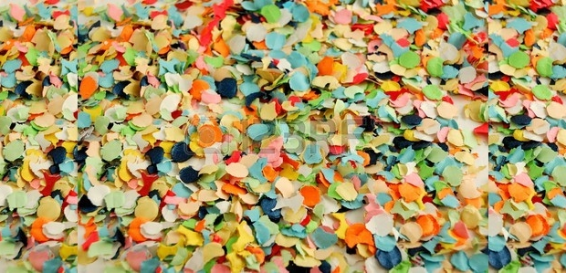 Texture of Colorful Confetti Paper