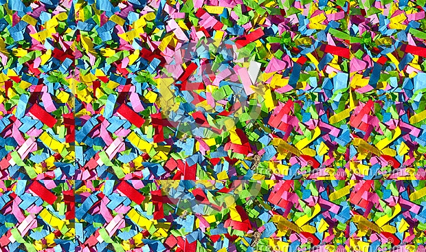 Abstract Colored Confetti Texture