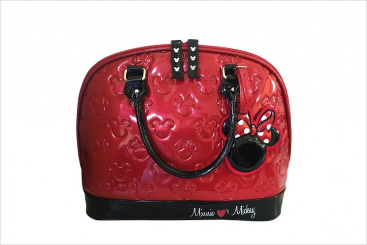 leather disney handbag