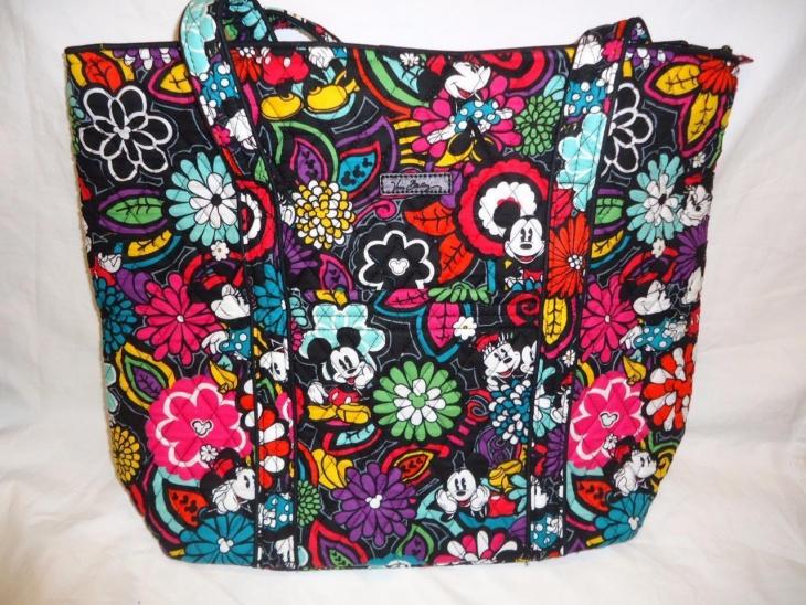 colorful disney tote bag