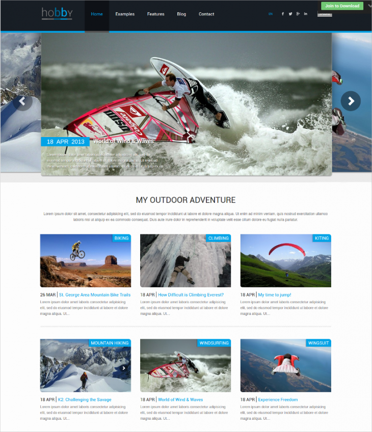 modern personal blog wordpress template