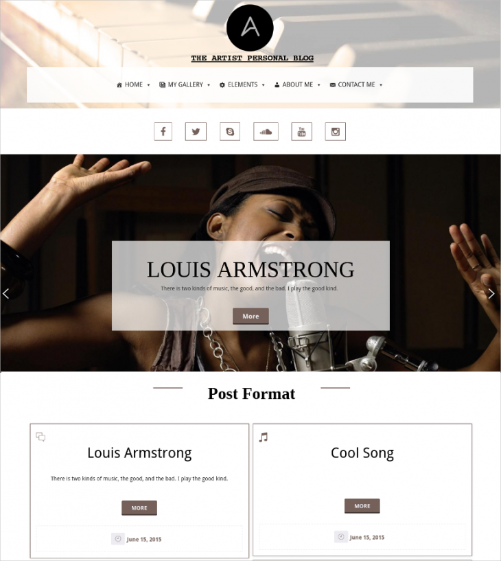 artist personal wp responsive template