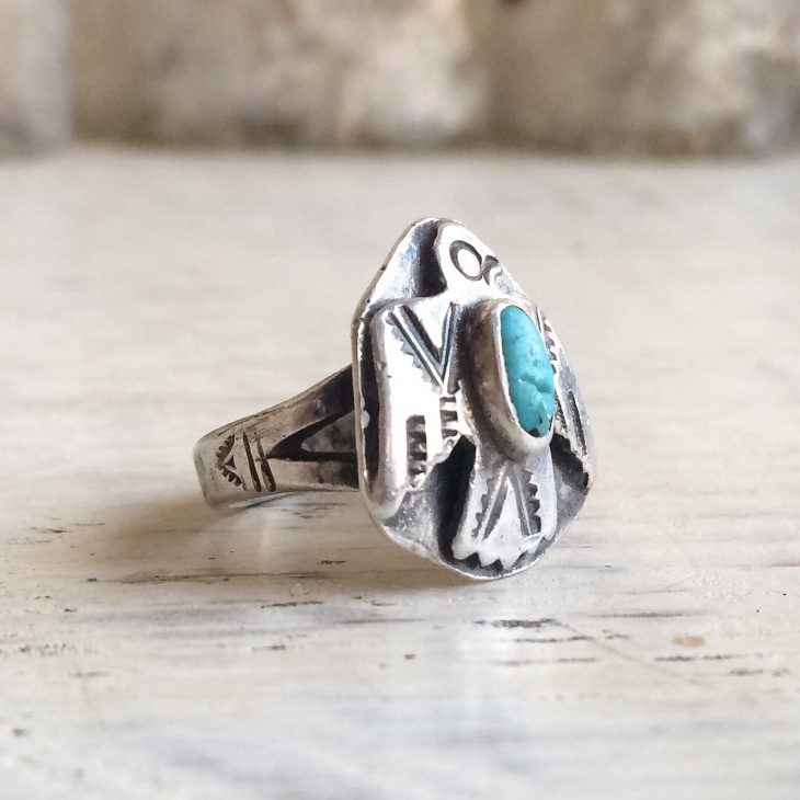 Turquoise Wolf Ring