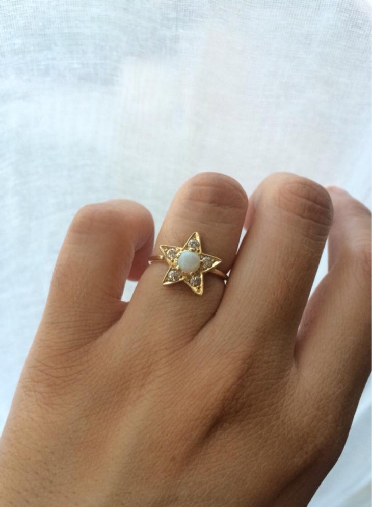 Diamond Star Ring Design