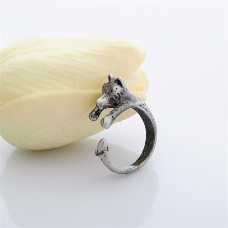 Wolf Open Ring