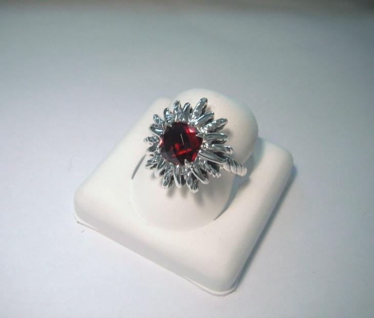 Sterling Silver Starburst Ring