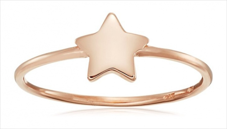 simple gold star ring