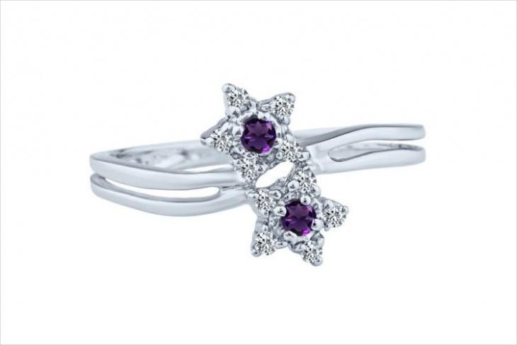 Double Star Diamond Ring