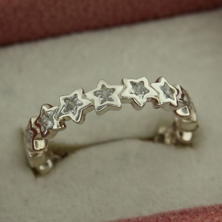 cute star band ring for women