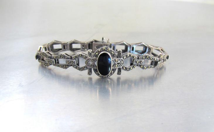 black marcasite bracelet design