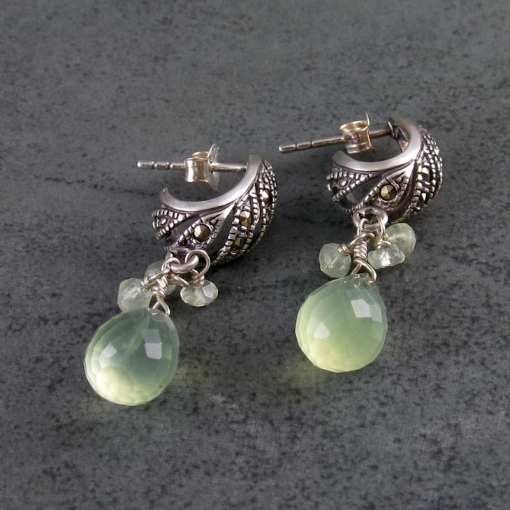 handmade marcasite earrings